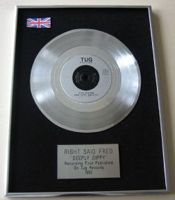 RIGHT SAID FRED - DEEPLY DIPPY PLATINUM single presentation DISC